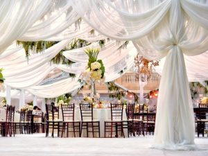 White marquee for the wedding 1