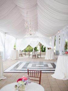 White marquee for the wedding 2