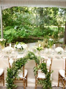 The organic decor for a wedding tent 1