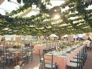 The organic decor for a wedding tent 4